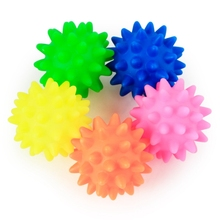 Soft Rubber Squeak Toys Pet Dog Flashing Spiky Ball Toy For Large Medium Small Throwing Interactive Puppy