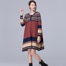 New Winter Warm Long Sleeved Vintage Sweater Dress Autumn/Fall Maternity Stylish Knitwear Jumper