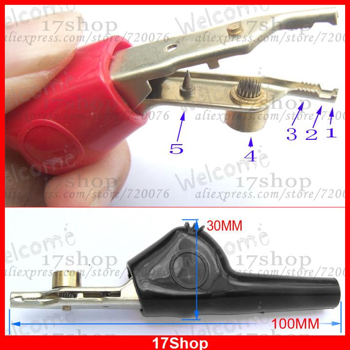 With teeth Alligator Clip Pliers Test Probes Cable DIY