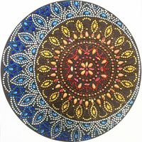 1 PCS Circle Flower 5D Special Shaped Diamond Painting Embroidery Needlework Rhinestone Crystal Cross Craft Stitch Kit DIY