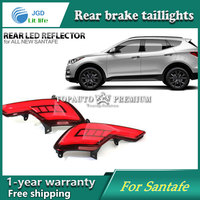 Car Styling LED Brake Lights Warning Lights Case For Hyundai Santafe Santa Fe IX45 2016 2017