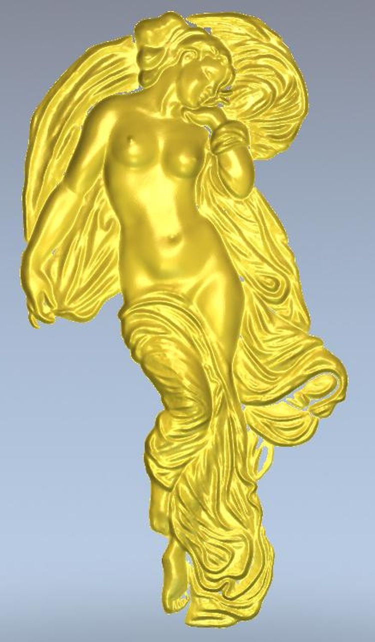 3d model relief  for cnc in STL file format Panno sleeping virgin panno hunting 2 for cnc in stl file format 3d model relief