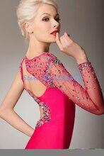 Luxus Pailletten Nixe Abendkleider Lange Gericht Zug Kristall Abendkleid robe de soiree vestido de festa Abendkleid