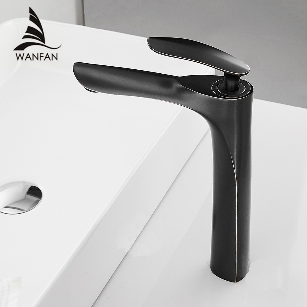 Basin Faucets Bath Water Basin Mixer Tap Bathroom Faucet Hot and Cold Black Color Brass Toilet
