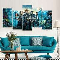 Manifesti di film di supereroi HD stampa dipinti ad olio astratta stanza Del Bambino decorazione Nordico 5 pezzo tela immagini Modulari Anime moder