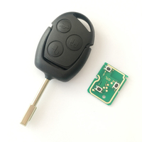 For Ford Mondeo Fiesta Focus Ka Transit 433 MHZ 4D63 4D83 Chip Remote Key Fob Blade