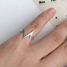 2017 new fashion simple punk ECG heartbeat tail toe ring men and women are free jewelry wholesale(China)