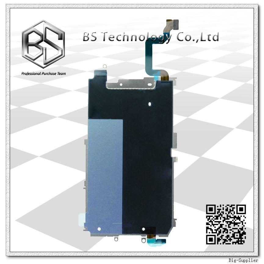 10 pcs/lot pour iPhone 6 plaque arrière en métal d'origine avec bouton d'accueil connecter Flex pour iPhone6 4.7''