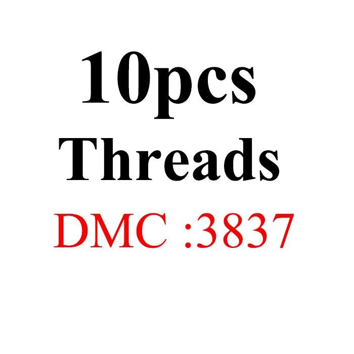 Snowlover, рукоделие, 10 шт./лот, 1,2 м, разные цвета, DMC3824-3848, вышивка крестиком, хлопковое шитье, моток пряжи, нить для вышивки - Цвет: 1.2mthread-DMC3837