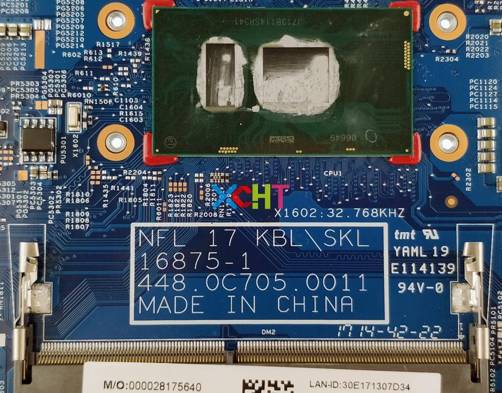 XCHT For HP 17 17 BS 17T BR000 Series 925624 601 925624 001 16875 1 448.0C705.0011 UMA I5 7200U Laptop Motherboard Tested