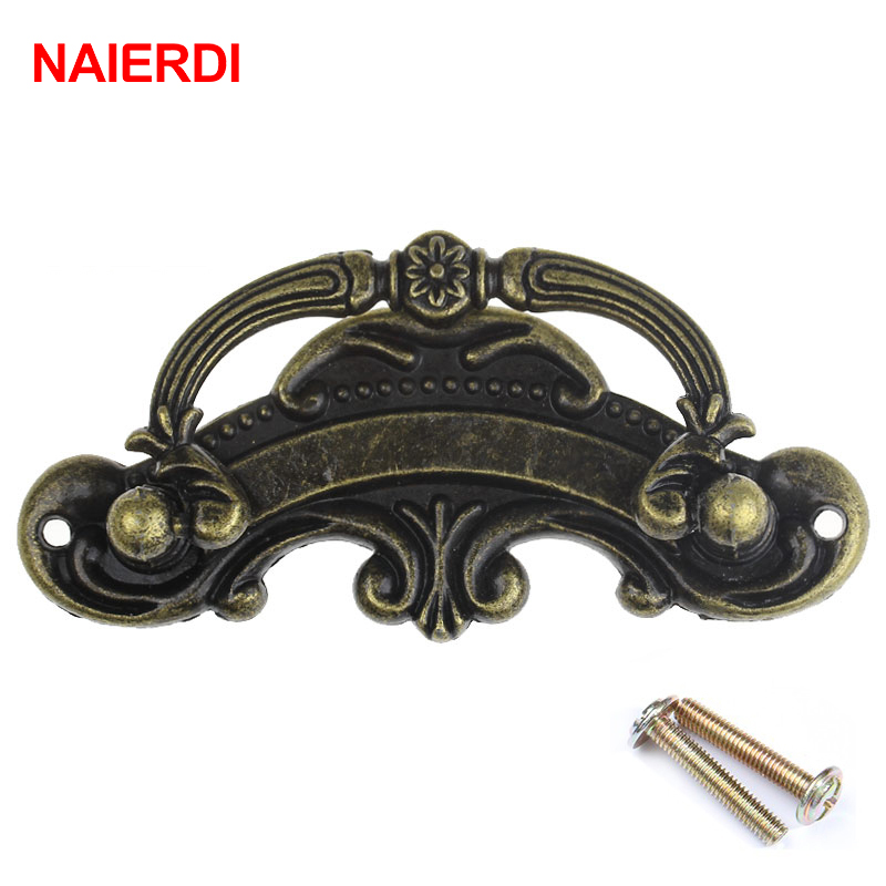 NAIERDI Bronze European Handles Kitchen Cabinet Knobs Door Cupboard Handle Wardrobe Drawer Pull For Furniture Hardware 100pcs metal kitchen drawer cabinet door handle furniture knobs hardware cupboard shell pull handles