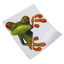 Essential 3D Peep Frogs Funny Car Stickers Truck Window Decal Graphics Sticker Decorative High temperature  water Proof @024