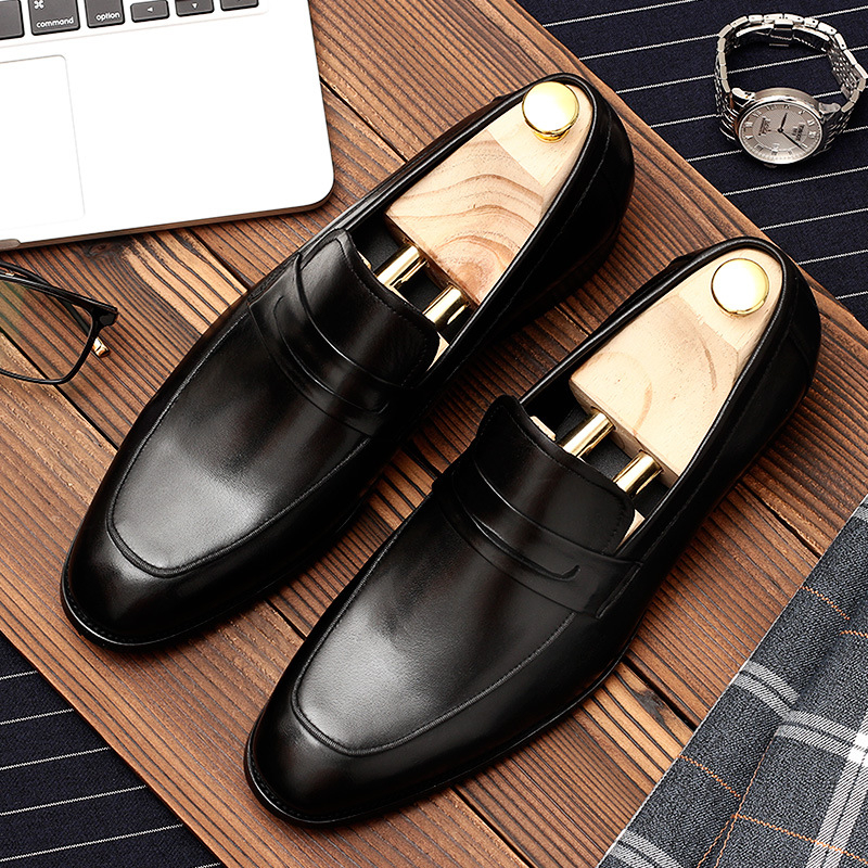 Men leather shoes business dress suit shoes men brand Bullock genuine leather black slipon wedding mens shoes PhenkangMen leather shoes business dress suit shoes men brand Bullock genuine leather black slipon wedding mens shoes Phenkang