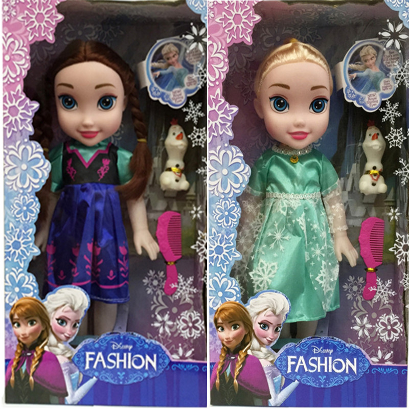 30 Cm Disney Princess Frozen Doll Ice Romance Adventure Queen Doll Princess Gift For Children Girls Toys Hobbies Without Box Action & Toy Figures