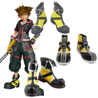 Anime Game Kingdom Hearts Sora Cosplay Boots Halloween Party Fancy Custom made Shoes