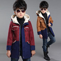 2016 Boys Cute Lamb Coral Fleece Jacket Infant Winter Hooded Flannel Coat Kids Spring Fall Soft color matching Outerwear