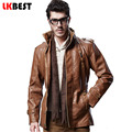 2017 new winter leather jacket  warm long mens leather jackets and coats high quality PU biker jacket plus size overcoats(PY02)