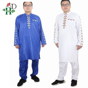 Image 3 - H&D african dresses for men Dashiki mens african clothing bazin outfit male tops pant suits 2 pcs Long Sleeves Shirt Plus size