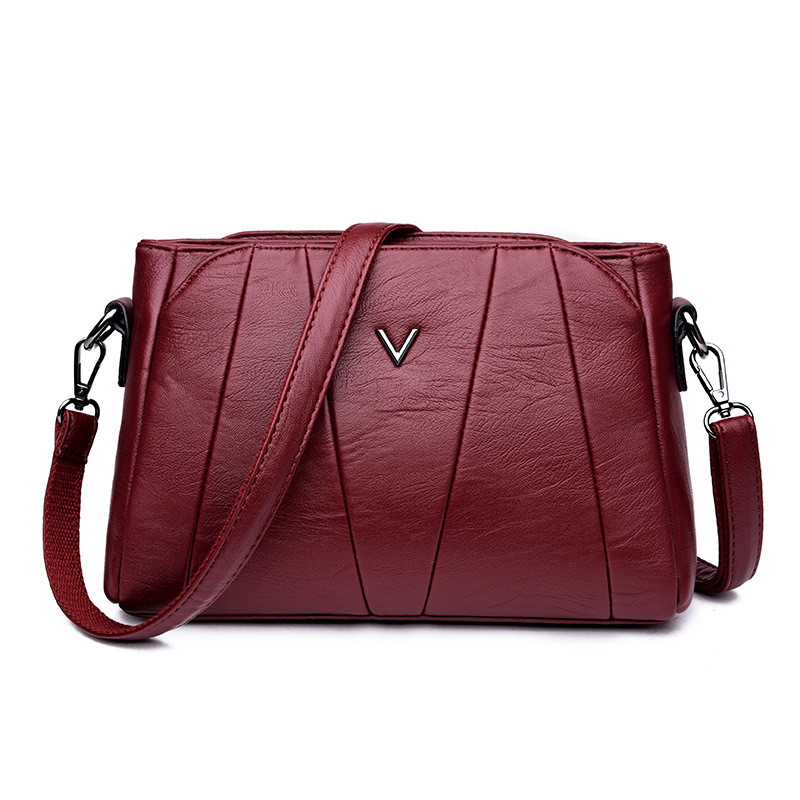 2018 Soft Crossbody Bags For Women Pu Leather Handbags Designer Women Shoulder Bags High Quality Solid Women Messenger Bags