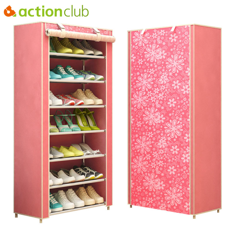 Actionclub Modern Minimalist Thicken Non-woven Dustproof Shoe Cabinet Creative Combination DIY Assembly Shoe Shelves StorageActionclub Modern Minimalist Thicken Non-woven Dustproof Shoe Cabinet Creative Combination DIY Assembly Shoe Shelves Storage