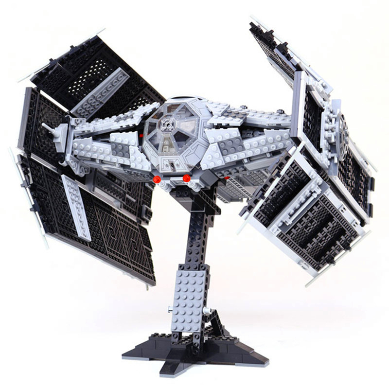 LEPIN 05055 1212Pcs Star Wars Vader TIE Advanced Fighter Building Block Toys Figure Gift For Children Compatible Legoe 10175 lepin 05055 1212pcs star wars vader tie advanced fighter building block toys figure gift for children compatible legoe 10175