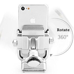 Image 4 - Alüminyum alaşımlı bisiklet motosiklet gidon montaj tutucu 360 rotasyon telefon tutucu iPhone 11 Pro Max evrensel Samsung S20