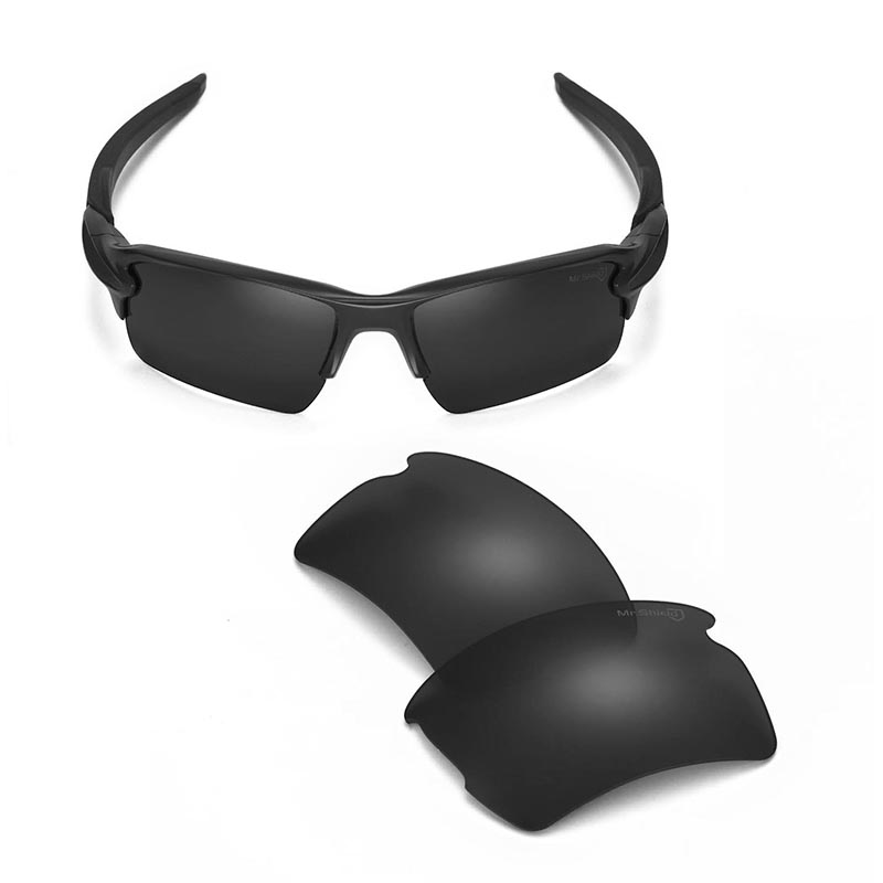 Walleva Mr.Shield  High-Grade Polarized Replacement Lenses For Oakley Flak 2.0 XL Sunglasses 6 Colors Available