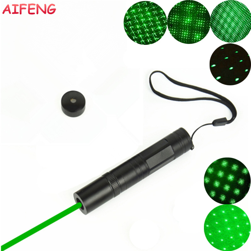 AIFENG 532 nm Green Laser Pointer with Star Head Laser Pen Beam 3000M 16340 Battery Operated Laser Pointer for Teaching Training 5mw red green laser pointer laser pen presenter present pen with star cap