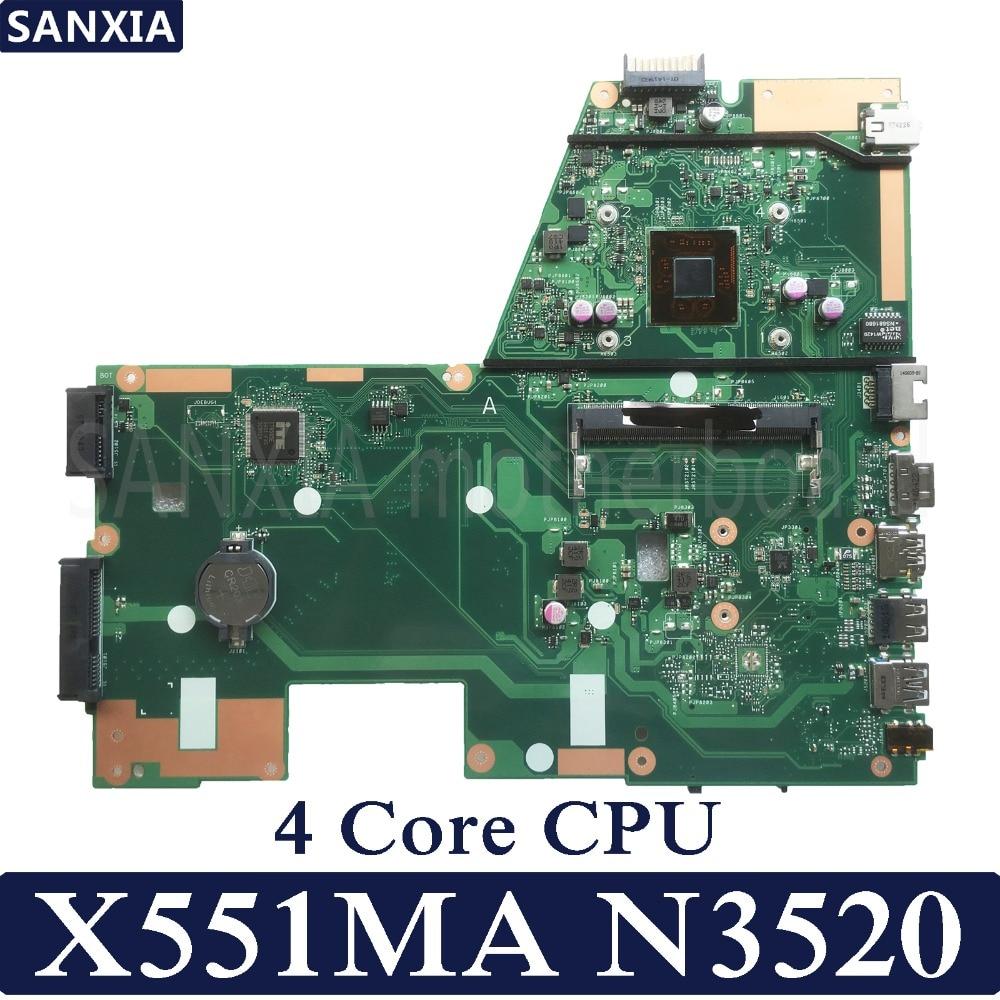 Carte mère d'ordinateur portable KEFU X551MA pour ASUS X551MA X551M X551 F551MA D550M Test carte mère d'origine N3520 4-Core CPU