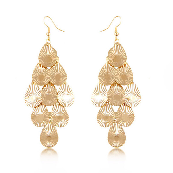 2017 Exaggerate Metal Punk Italian Style National Long Fake Light Weight Gold Earring On Aliexpress Alibaba Group