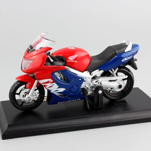 1/18 scale free mini brand Maisto Honda CBR600F Hurricane motorcycle model Sport race bike metal diecast kids toy for collection brand new maisto 1 18 scale diecast car model toys classical ford mustang gt supercar metal model toy for gift collection