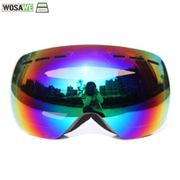 WOSAWE Ski Goggles Skiing Snowboarding Polarized Sunglasses Motocross Goggles Double Layers Anti fog Snow Skating face Mask