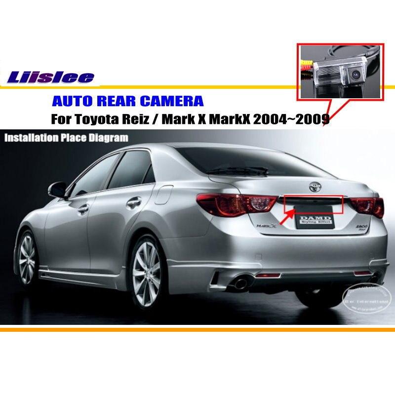 Liislee Back Up Parc Caméra Pour Toyota Reiz/Mark X MarkX 2004 ~ 2009 Licence Plaque Lumière OEM/Vue Arrière Caméra/NTST PAL dans Véhicule Caméra de Automobiles et Motos
