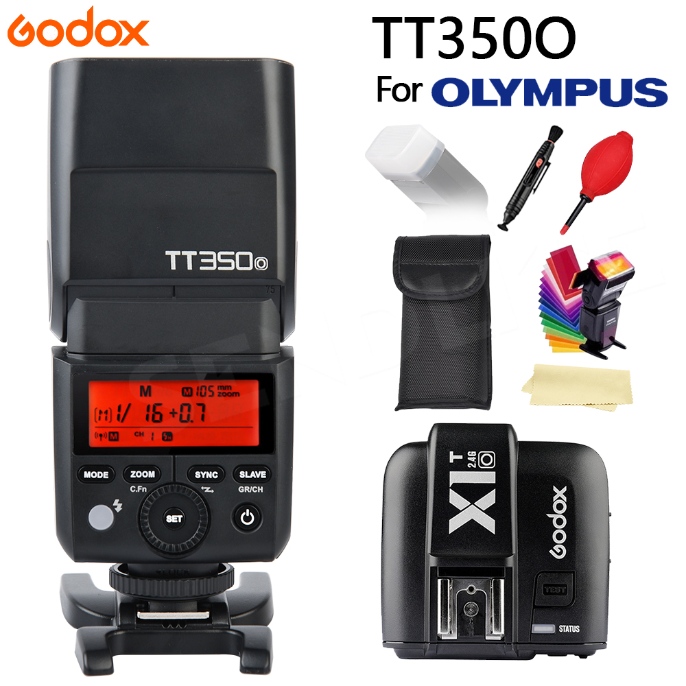 GODOX TT350 Mini Flash Lumière 2.4G Sans Fil HSS TLL 1/8000 s Maître Speedlite Pour Olympus Panasonic Lumix caméra + X1TO Trigger