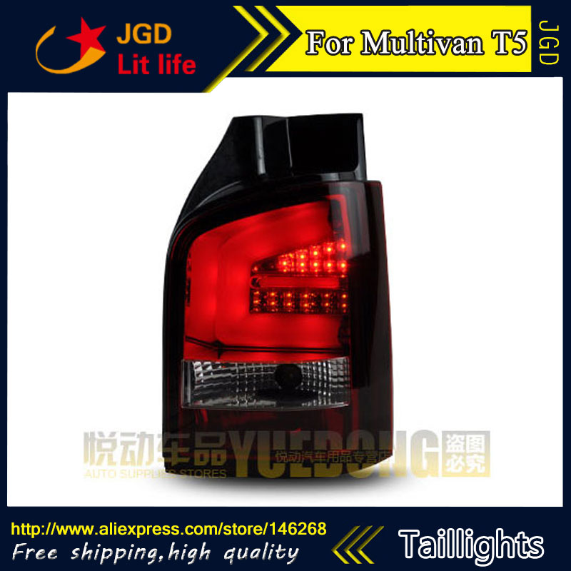 Car Styling tail lights for VW Multivan T5 taillights LED Tail Lamp rear trunk lamp cover drl+signal+brake+reverse car styling tail lights for toyota prado 2011 2012 2013 led tail lamp rear trunk lamp cover drl signal brake reverse