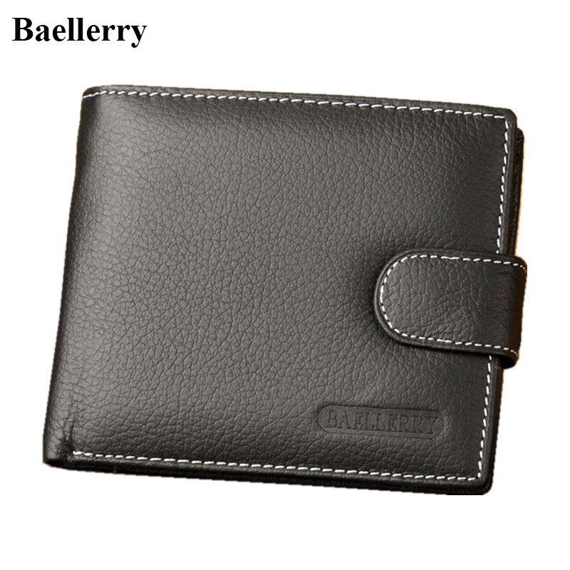Baellerry Brand Genuine Cow Leather Wallets Men High Quality Casual Short Coin Purses Male Money Bags Cash Credit Card Holders hot sale leather men s wallets famous brand casual short purses male small wallets cash card holder high quality money bags 2017