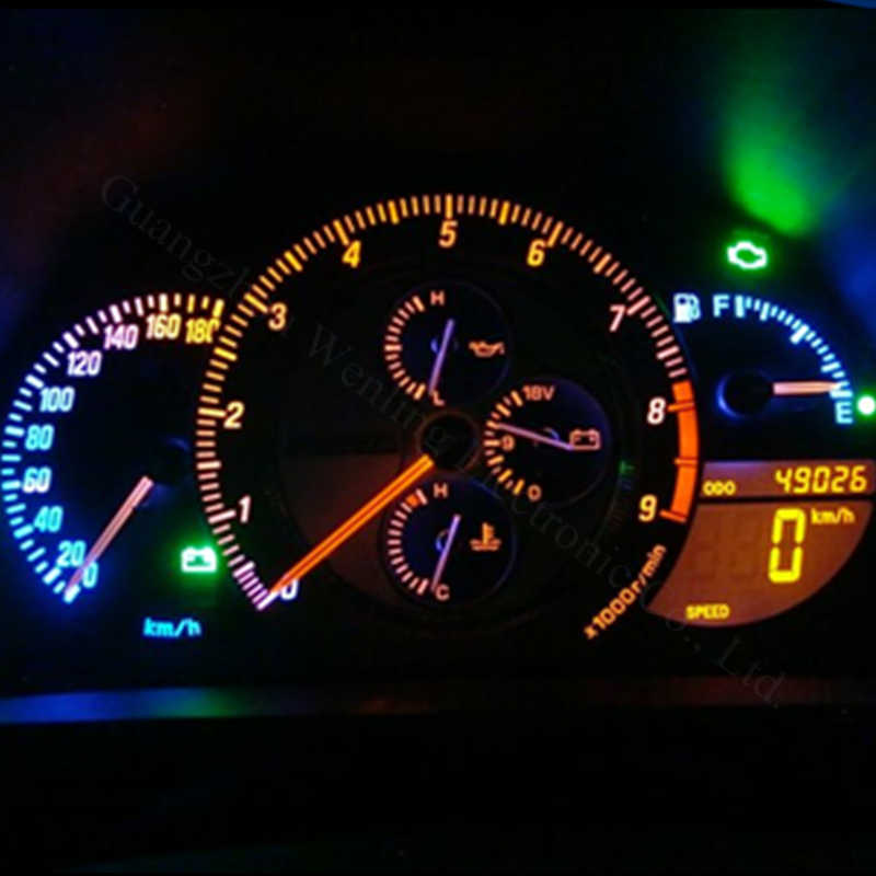 20X White T5 58 70 73 74 Dashboard Gauge 2SMD Wedge Side Light Bulbs For Honda