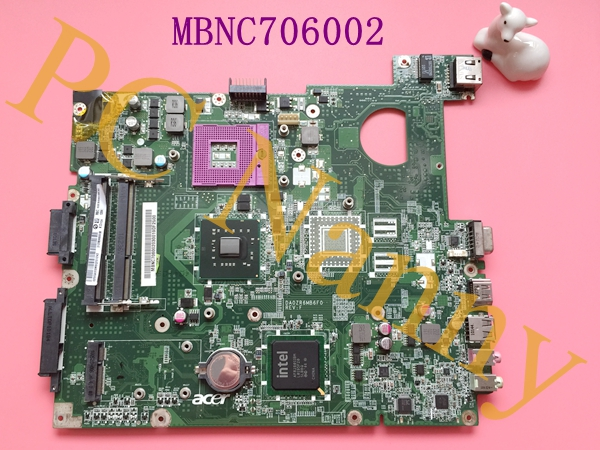FOR eMachines E528 Laptop Intel Motherboard MBNC706002 DA0ZR6MB6F0 S478 DDR3 GL40 + Free cpu Working