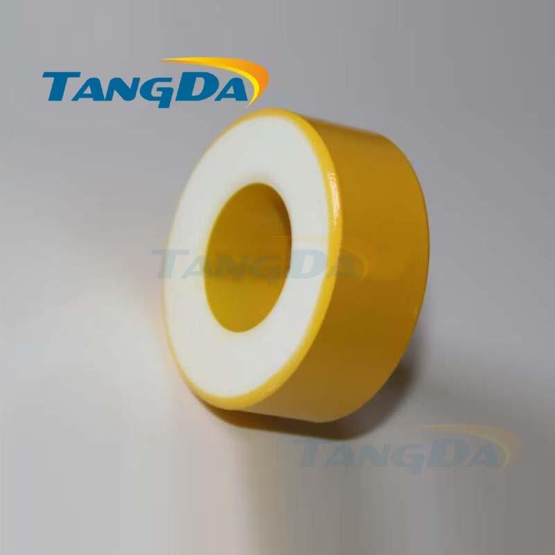 Tangda Iron powder cores T250-26 OD*ID*HT 64*31.5*26 mm 242nH/N2 75ue Iron dust core Ferrite Toroid Core toroidal yellow white