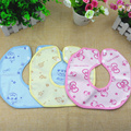 Baby Bibs 2016 Waterproof Bibs Velvet Towel Slobber Octagonal Shape  Newborn Bib Lovely Cartoon Pattern Baby Bib Free Shipping