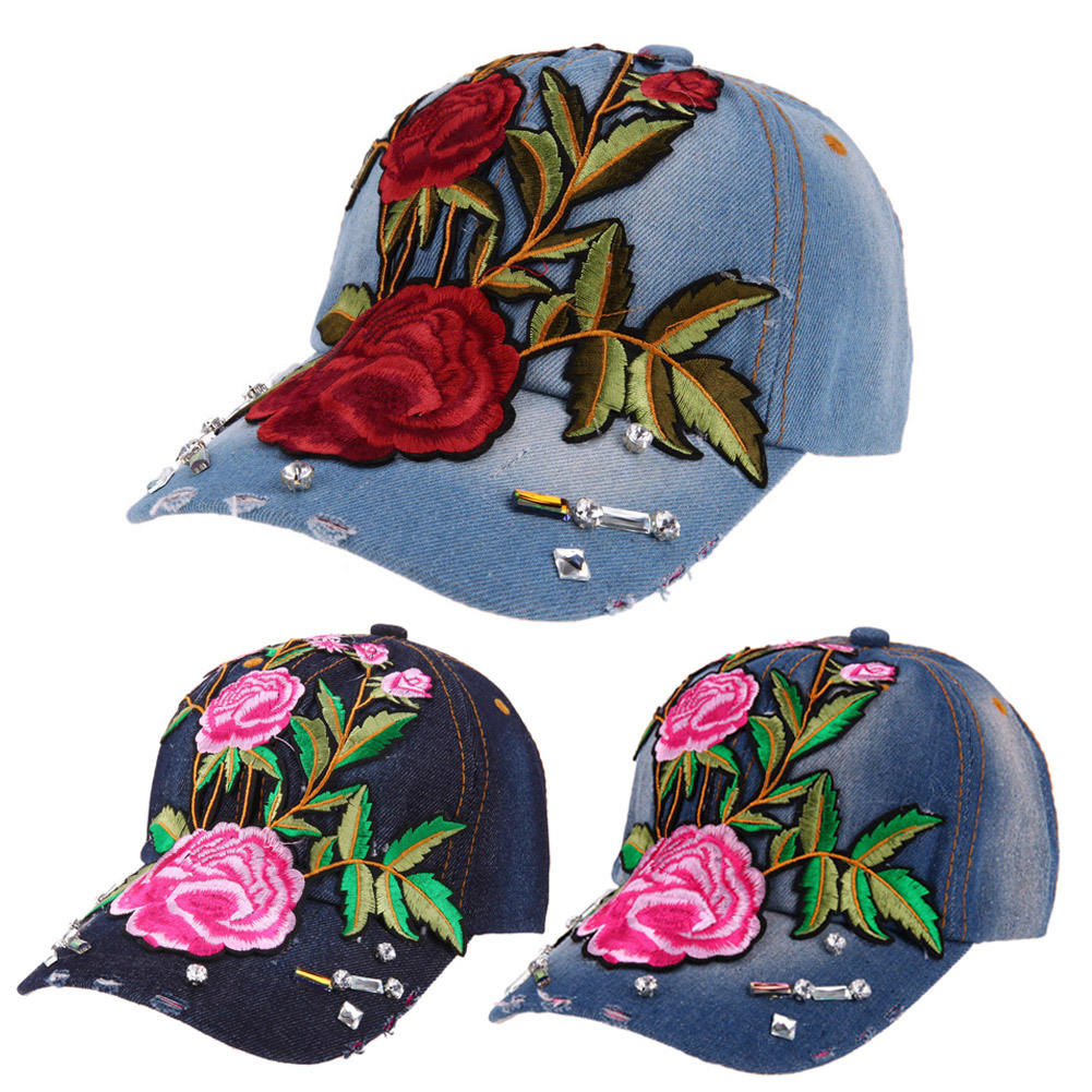 2017 New High quality Unisex Rose Flower Embroidery Hip-hop Baseball Cap Snapback Hats women men Strapback Hip Hop Hat 2017 New 2016 new new embroidered hold onto your friends casquette polos baseball cap strapback black white pink for men women cap