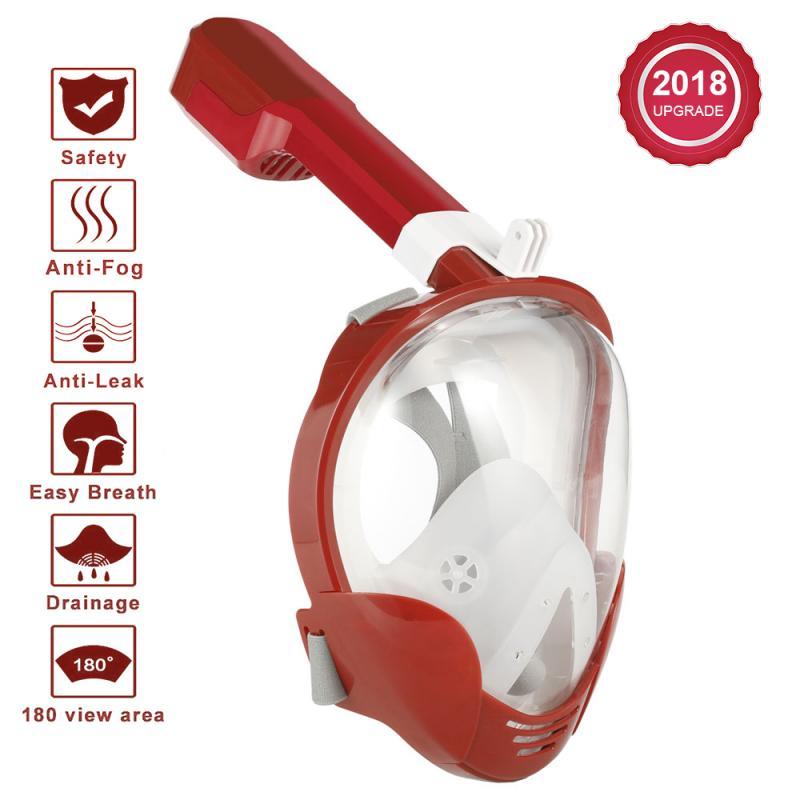 Professionnel Sous-Marine Plongée masque de plongée Plein masque de plongée en apnée M8018 pour Gopro Mouvement Caméra Pour Xiaomi Yi pour SJ4000 Nouveau