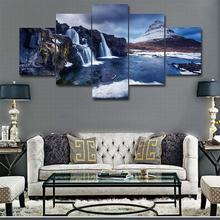 Poster wall art canvas printing picture 5 piece iceberg lake view modern HD frame home decor Oil painting for living room