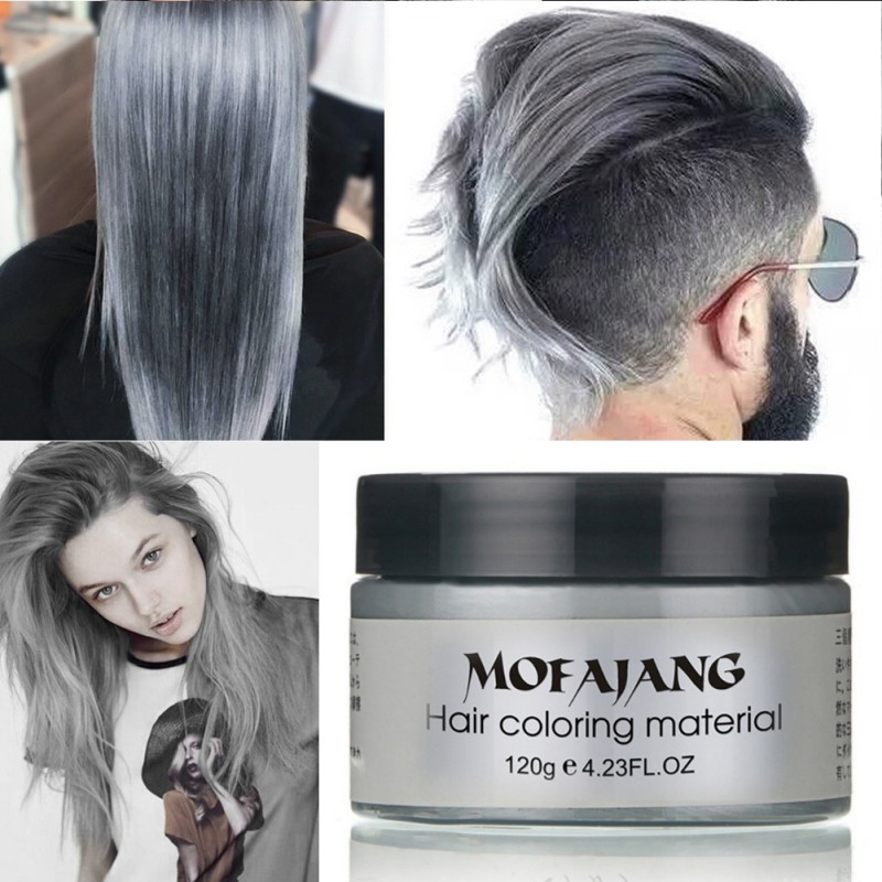 7 Colors Products Hair Color Wax Dye Grandma Grey One Time Molding