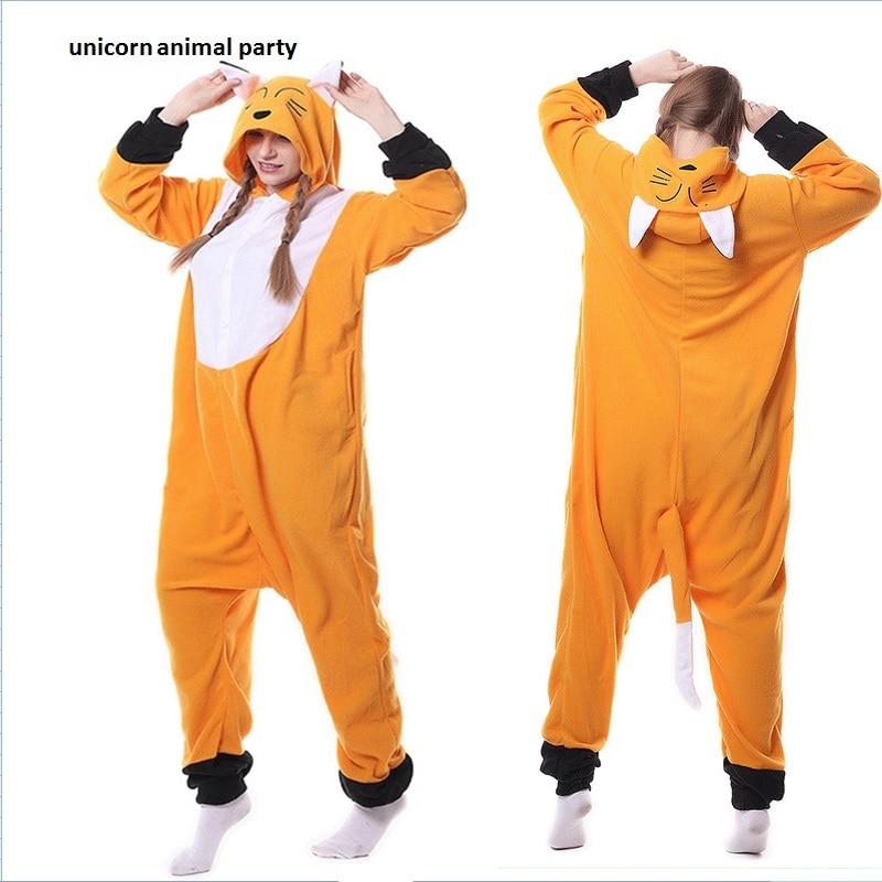 Kigurumi Hewan Dewasa Sleepsuit Piyama Kostum Cosplay Fox Onesie Fancy Dress Kostum Hoodies Piyama Tidur memakai Jumpsuit