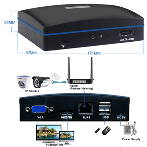 Image 5 - Smar 4CH H.265 CCTV NVR With 2PCS 720P/1080P Security Camera System With Remote Controler Support eSATA/TF/USB Storage