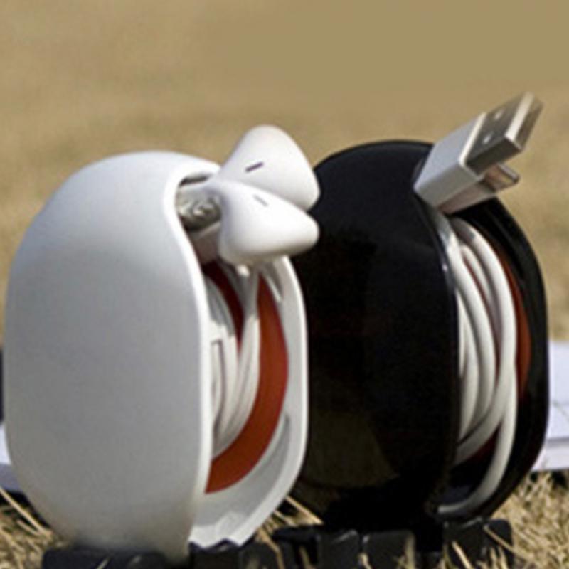 Automatic Wrap Headset Earphone Cable Data line Organizer Bobbin Cord Winder