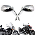 Silver Rearview Side Mirrors For Motorcycle E-Bik Honda Suzuki Kawasaki 10mm