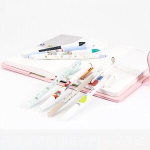 Image 4 - 50 шт./пакет, стираемая гелевая ручка, корейские кавайные канцелярские принадлежности, 0,5 мм, синяя гелевая чернильная ручка для школьников, оптовая продажа, Ruixiang M 50