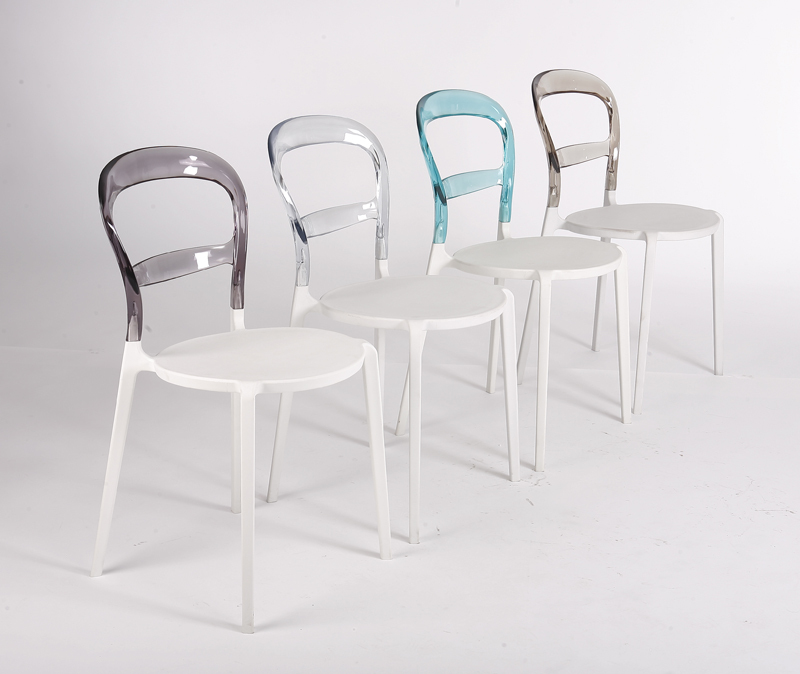 Resina silla del ocio, transparente silla de plástico, exterior ...